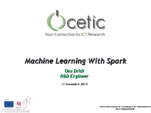 Machinel Learning with spark