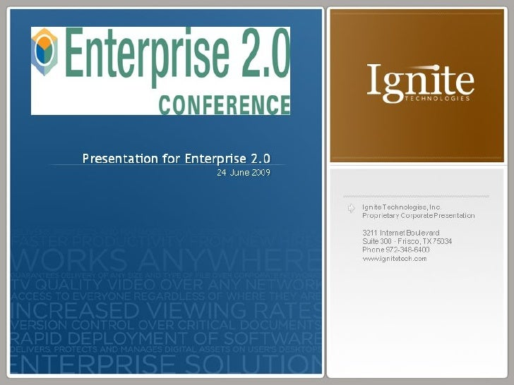 Ignite Technologies Overview