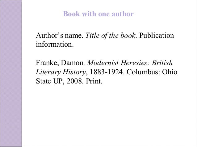 Mla style book with two or more authors to cite ccuart Image collections