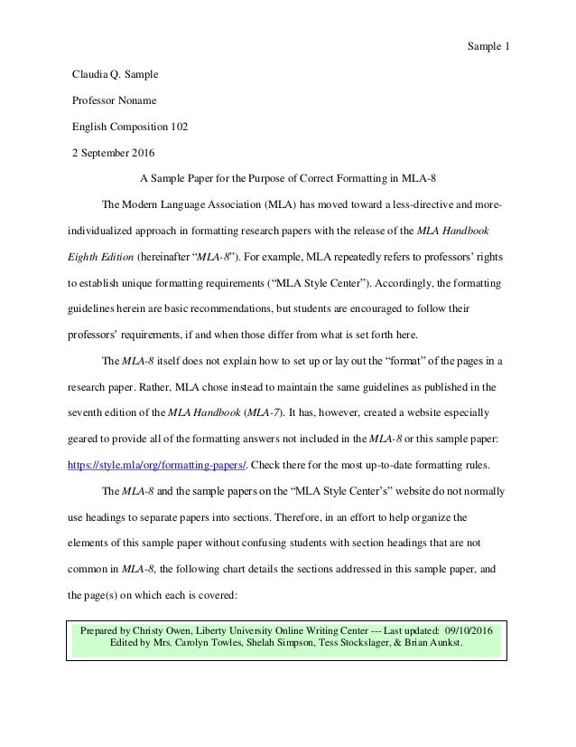 Essay On Terrisom Mla  Sample Paper By Liberty University  Essay On Adult Education also Energy Essay Mla Paper  Underfontanacountryinncom Night Elie Wiesel Essay