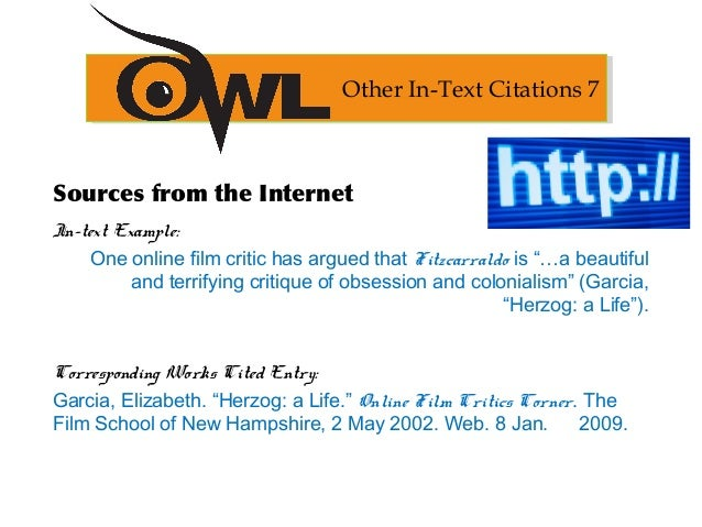 in text citation film