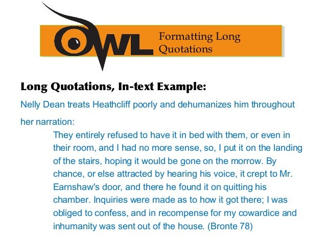 quotes in essays owl This page is brought to you by the owl at purdue ( ) example summary, paraphrase, and quotation from the essay.