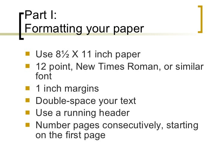 mla style paper format