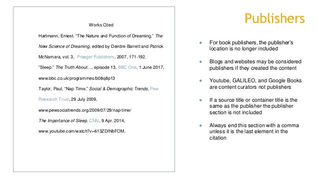 mla format 8th edition