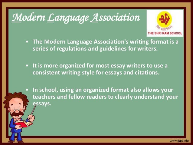 Modern Language Association • The Modern Language Association's writing format is a series of regulations and guidelines f...