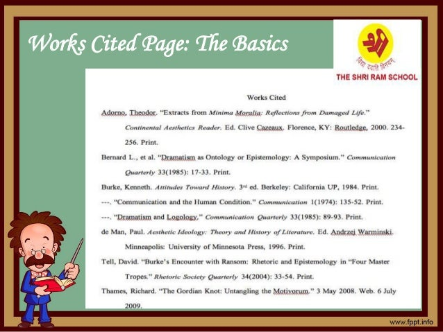 Works Cited Page: The Basics