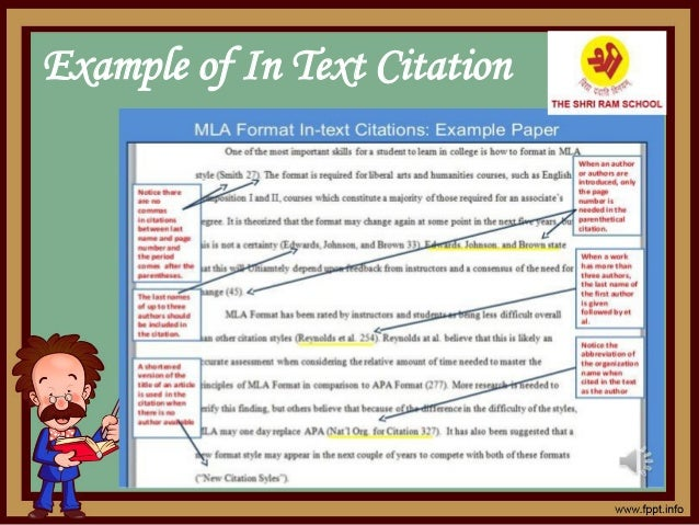 Example of In Text Citation