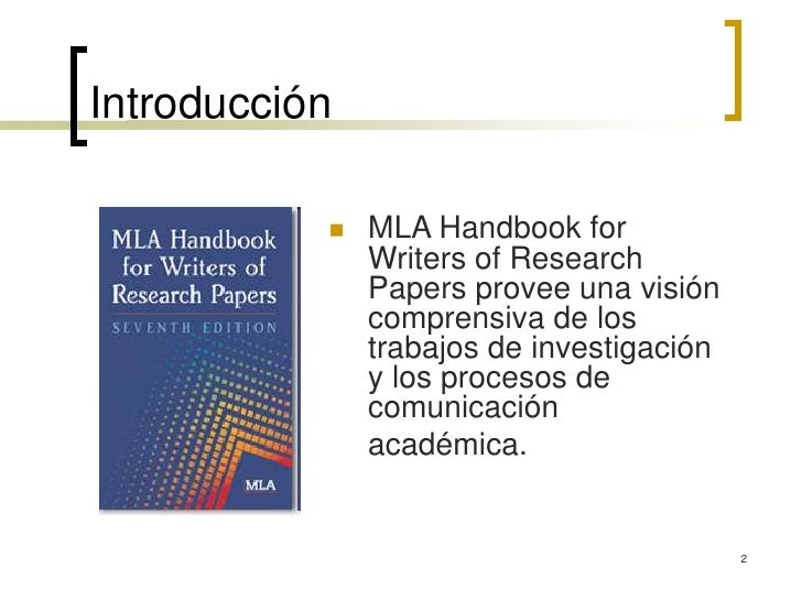Mla handbook for writers of research papers ed. joseph gibaldi