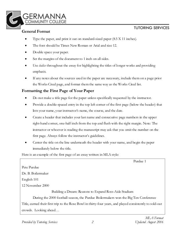 Mla 8th edition citation format by germanna community college tutorin 2 publicscrutiny Image collections