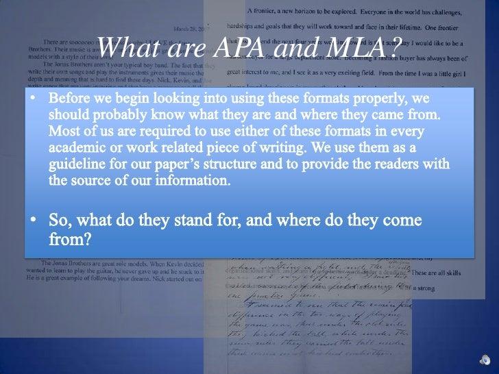 mla and apa formats