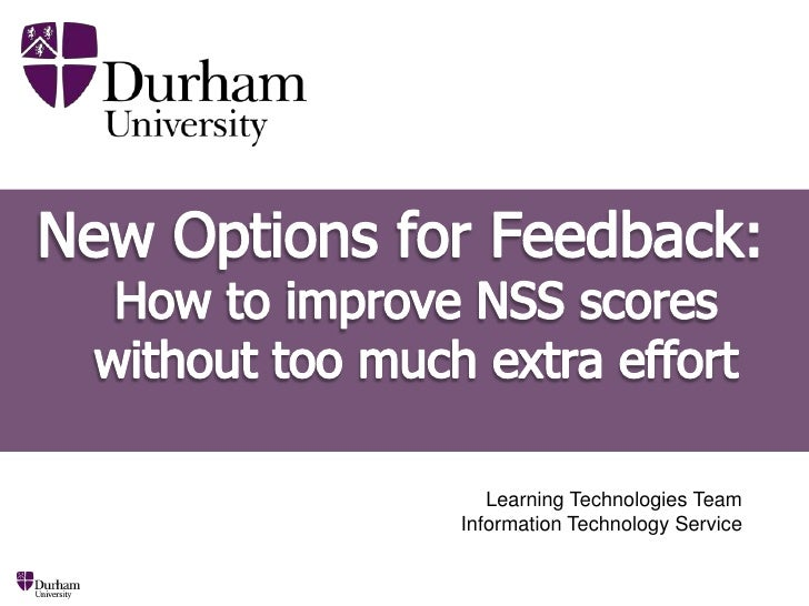 New Options for Online Student Feedback<br />Learning Technologies TeamInformation Technology Service<br />