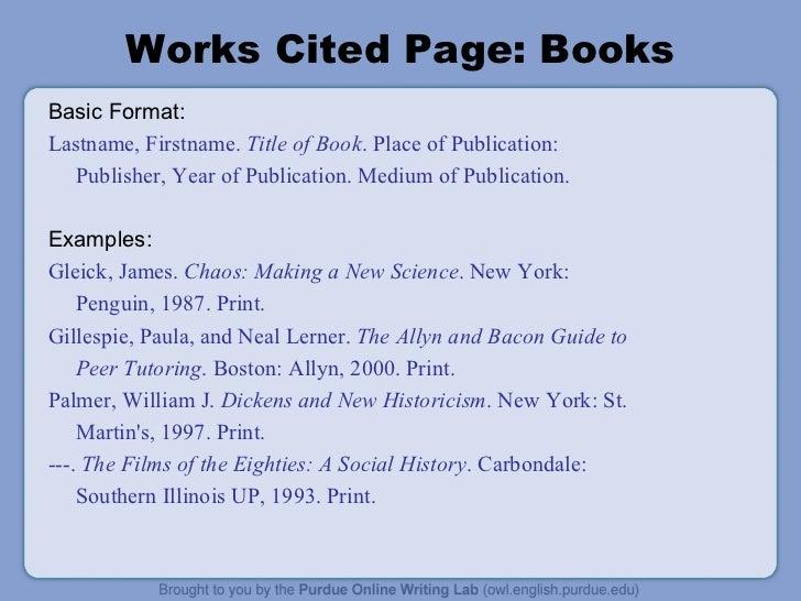 mla citation for a book