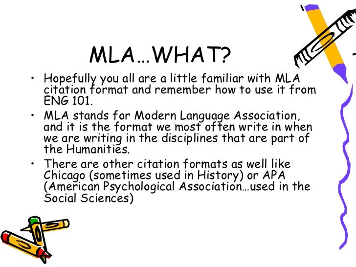 mla format essays citation