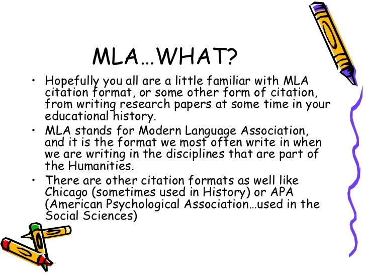 Resources for MLA Style