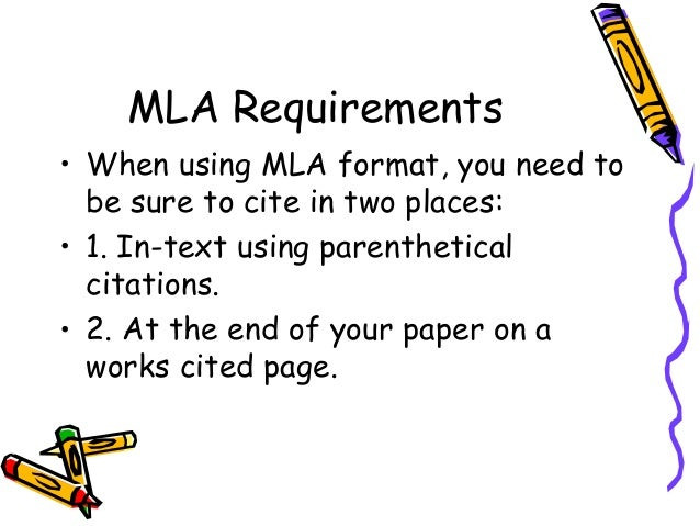 what are the requirements for mla format