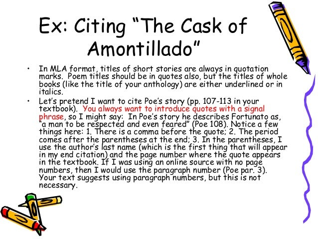 essay cask of amontillado