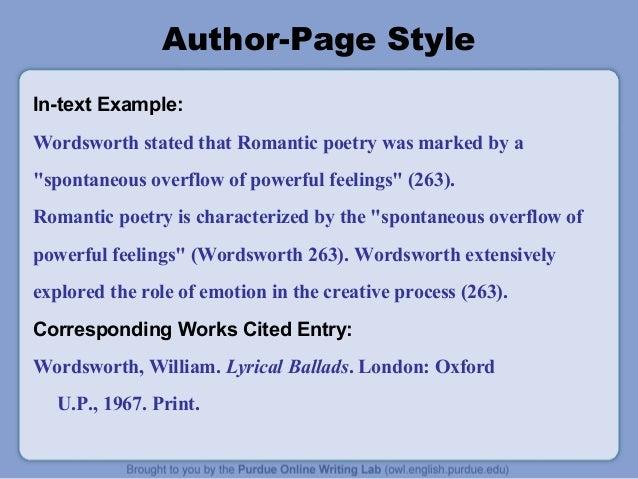 mla format for poems