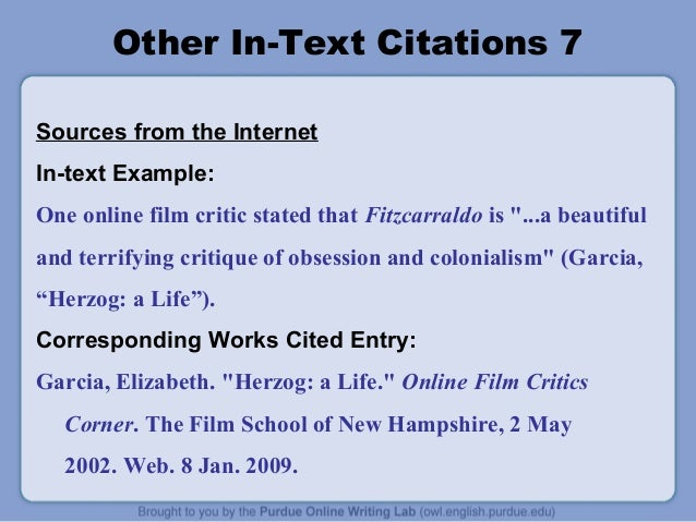 in essay citation mla