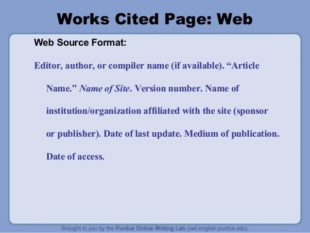 mla citation format article