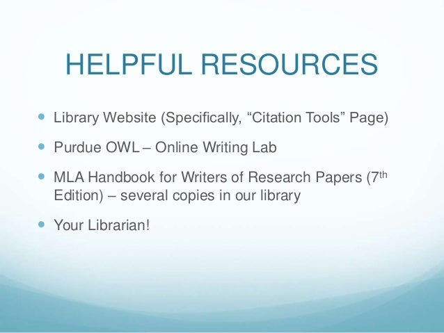 Mla handbook for writers of research papers 7th edition works cited