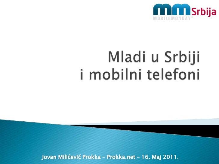 Mladi u Srbijii mobilnitelefoni<br />