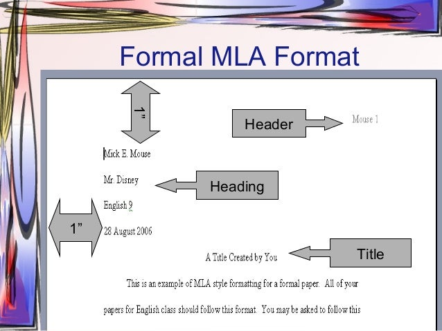 mla heading format example