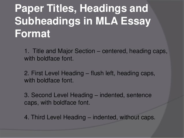 dissertation headings and subheadings