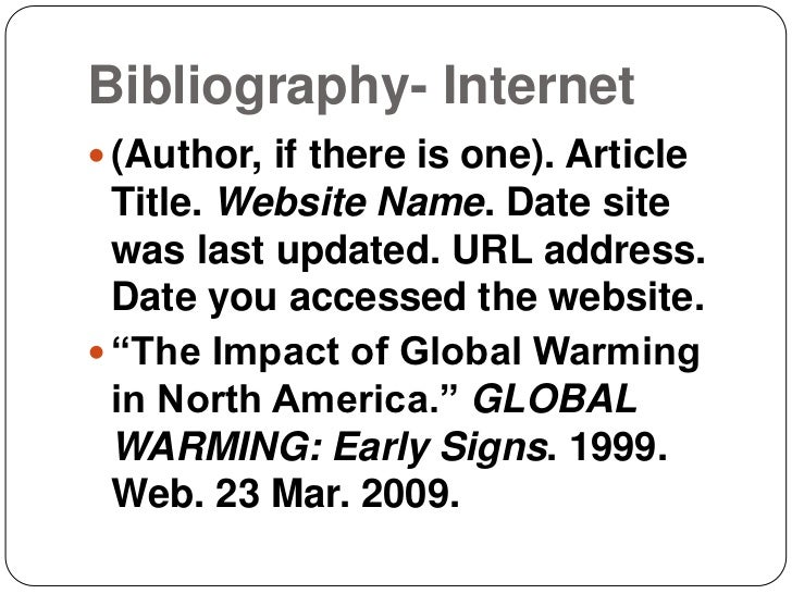 how to write an internet bibliography mla format