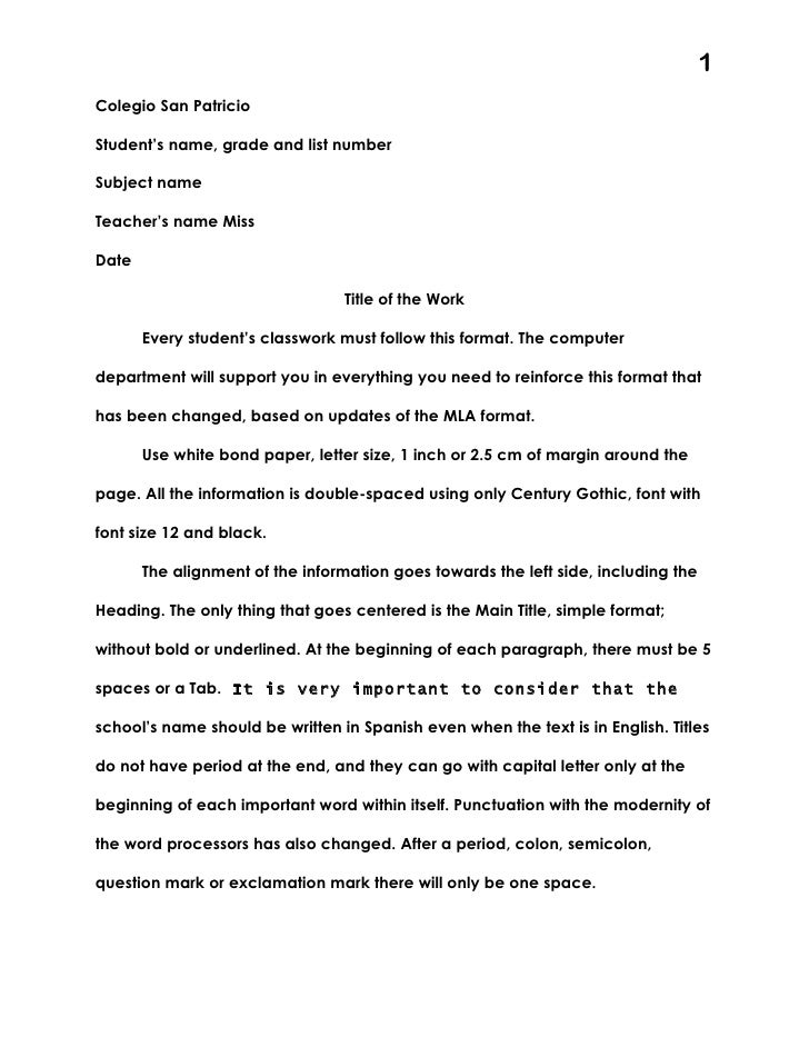 Mla format for science fair mla format for science fair 1colegio san patriciostudents name grade and list numbersubject nameteachers name missdate spiritdancerdesigns