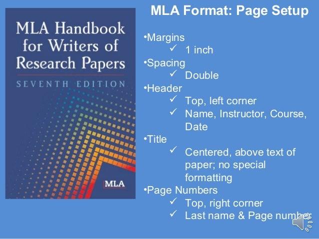 mla format page setup