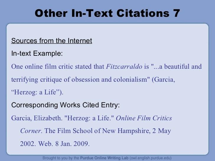 mla citation in essay examples
