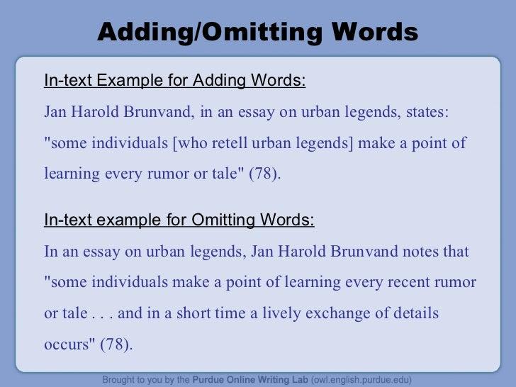 essay examples mla format
