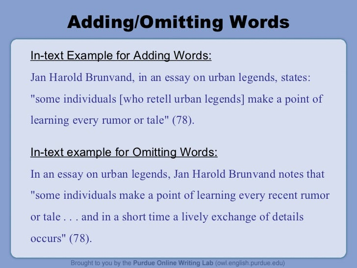 how to add words to a quote in mla