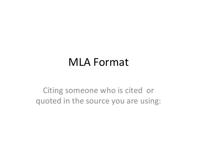 Mla format quoting a quote