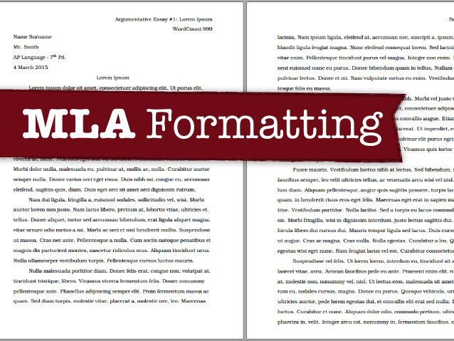 mla formatting slides