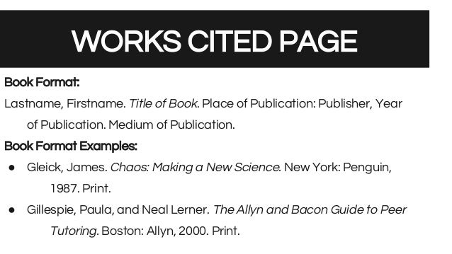 how to write a works cited page for a book aildoc productoseb co