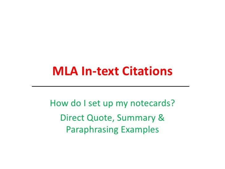 mla in text citation website