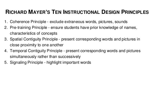 what are instructional design principles