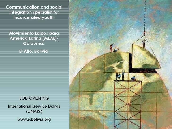 Communication and social integration specialist for incarcerated youth   Movimiento Laicos para America Latina (MLAL)/ Qal...