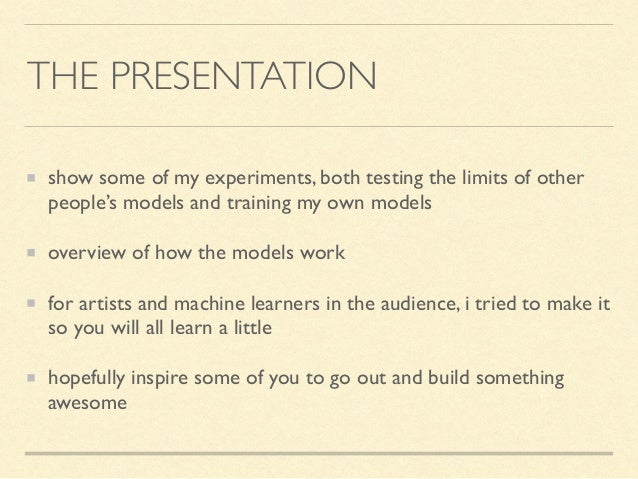 machine learning and art hack day Slide 2