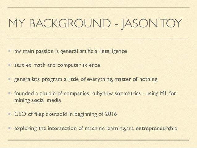 machine learning and art hack day Slide 3