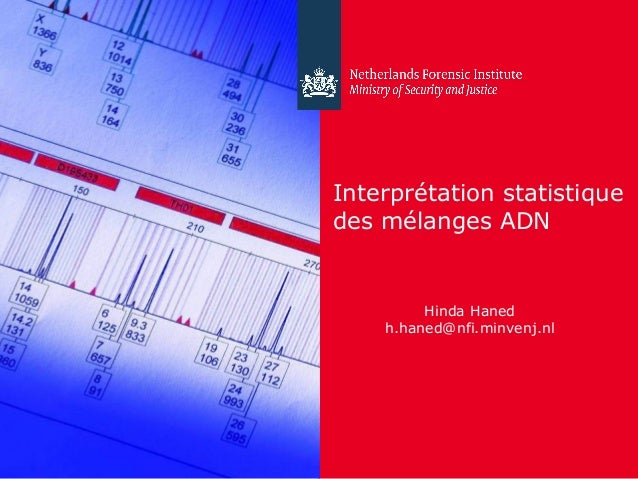 24 April 2012 Interprétation statistique des mélanges ADN Hinda Haned h.haned@nfi.minvenj.nl