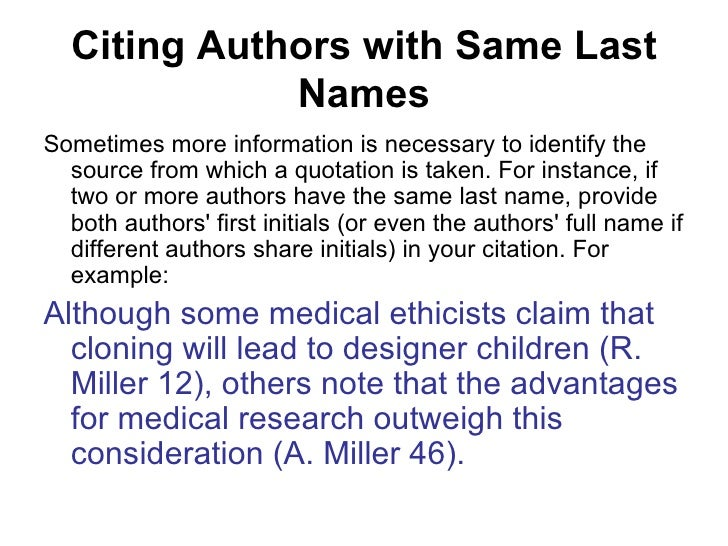 how to write author name in citation