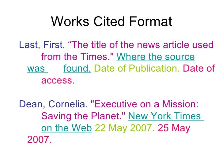 work cited mla examples