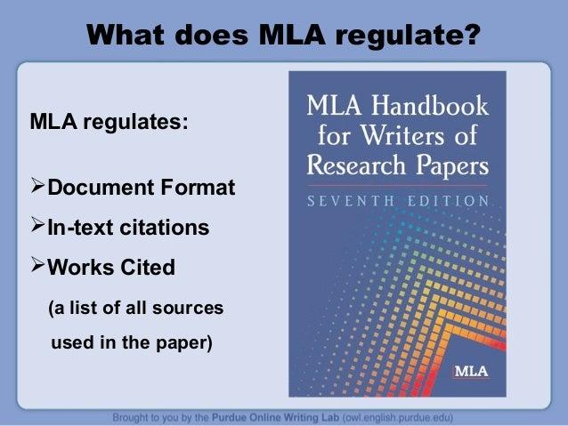 mla format 7th edition