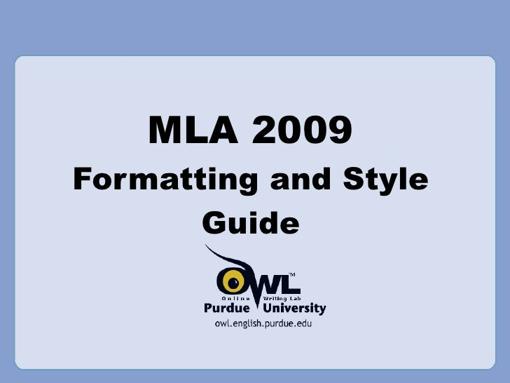 the owl mla formatting power point