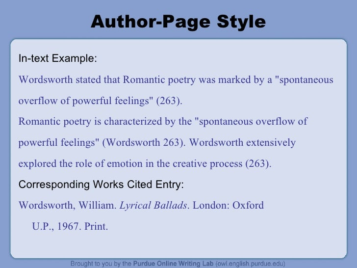 APA Citation Style, 6th edition: APA