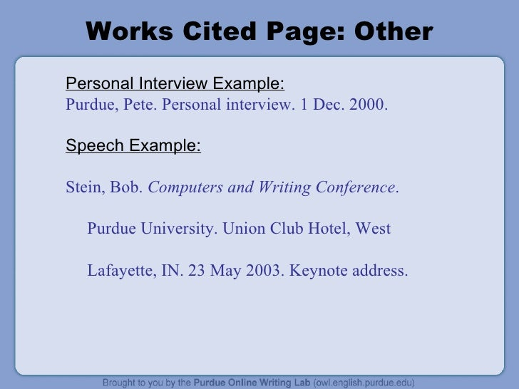 mla works cited page purdue owl aildoc productoseb co