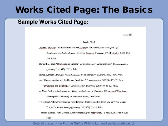 format essay title page