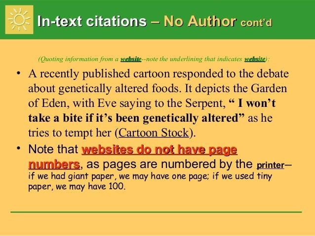 mla essay in text citations